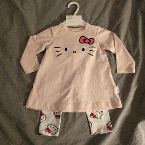 H&M Organic Hello Kitty Baby Tunic and Pants Set